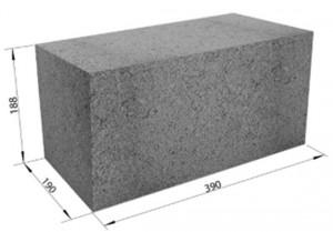 Фундаментный блок 200-200-400
