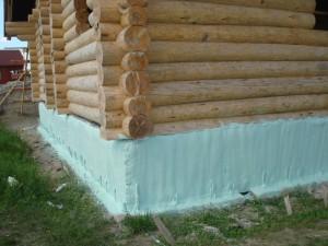 Отделка фундамента деревянного дома снаружи