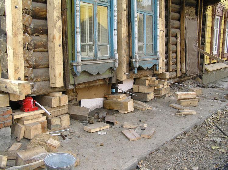 Реконструкция фундамента частного деревянного дома