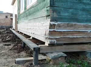 Реконструкция фундамента деревянного дома