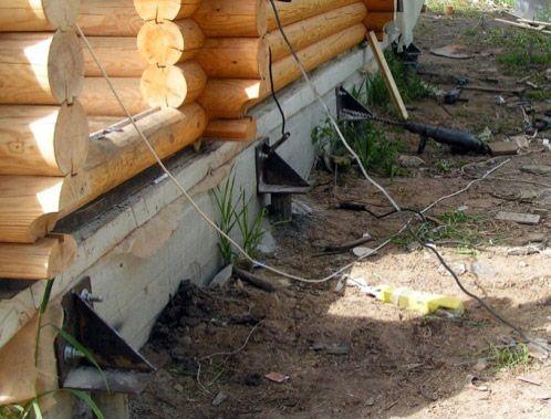 Реконструкция фундамента деревянного дома фото