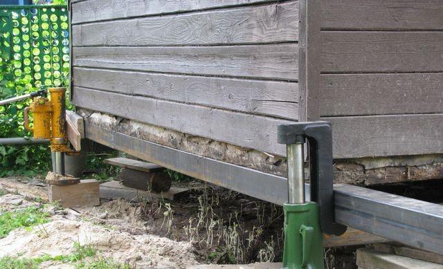 Реконструкция фундамента деревянного дома видео
