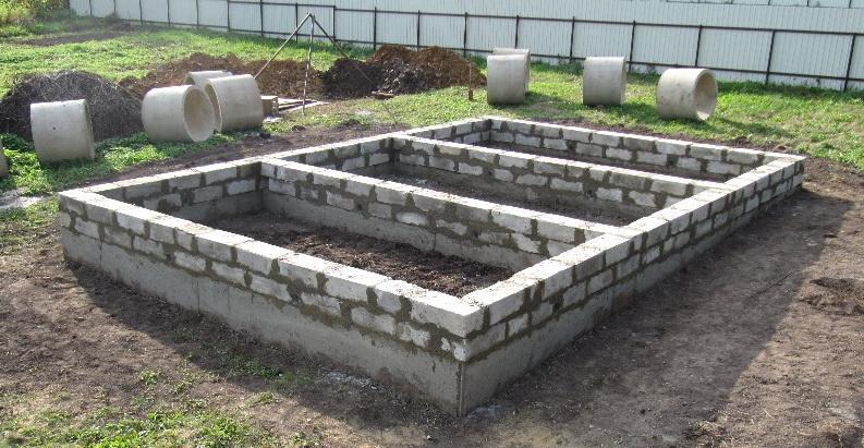 Строительство фундамента для дома