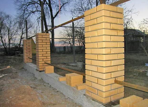 Строительство заборов на ленточном фундаменте