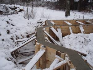 Устройство фундамента зимой