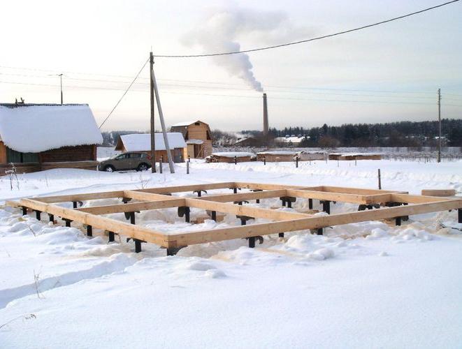 Устройство фундаментов в зимнее время