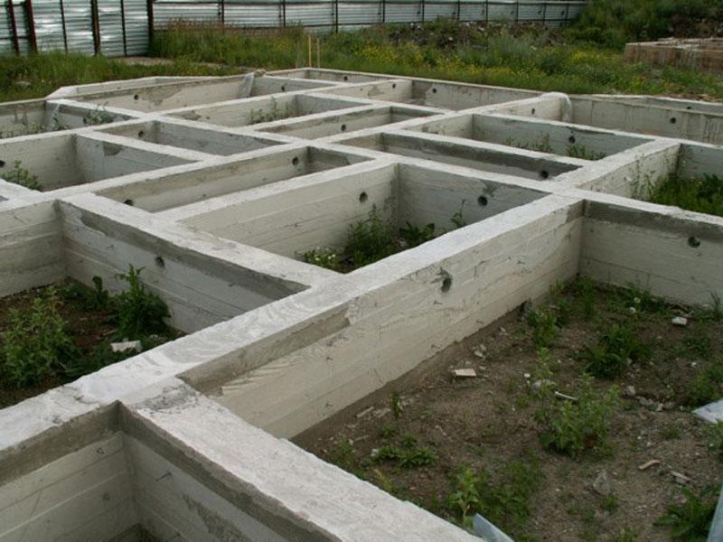 Фундамент бетонный ленточный