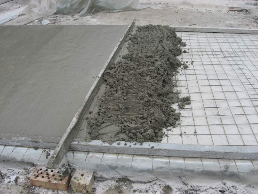 Пропорции бетона для стяжки