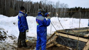 Сваи для фундамента зимой