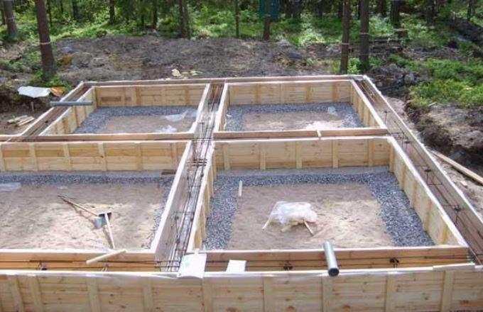 Устройство бетонных ленточных фундаментов