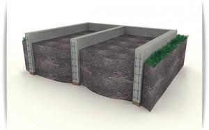 Заливка заглубленного ленточного фундамента