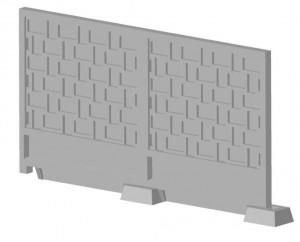 Плиты заборные бетонные