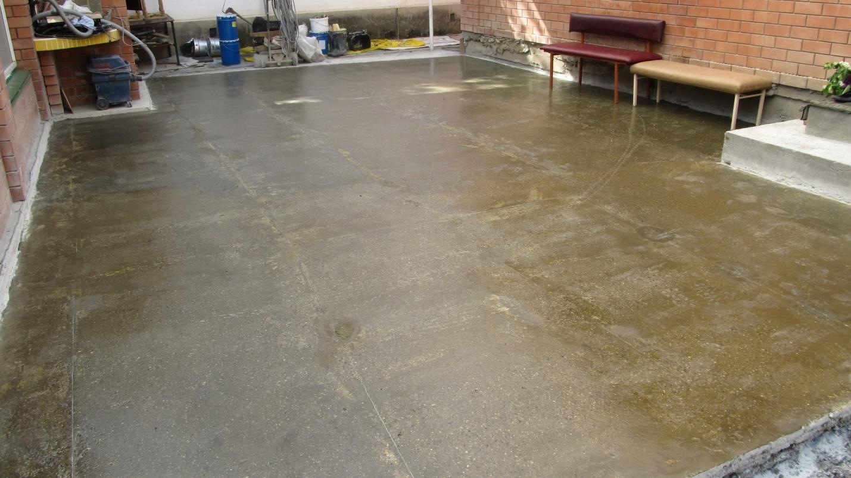 Обеспыливание бетонного пола в гараже
