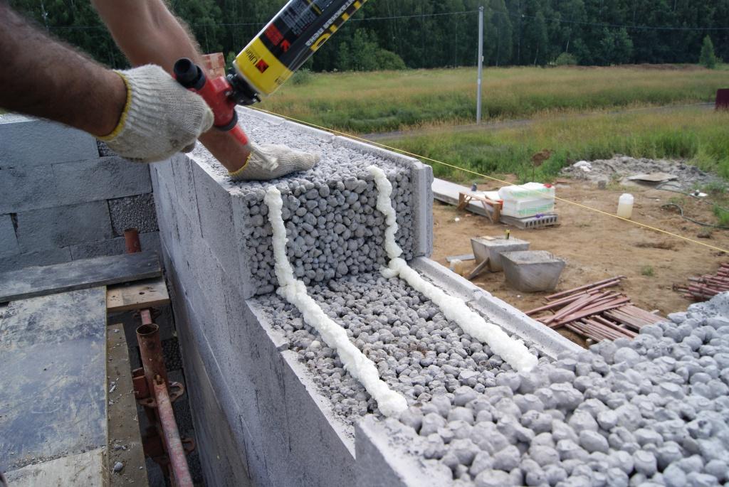 Стена из керамзитобетона своими руками