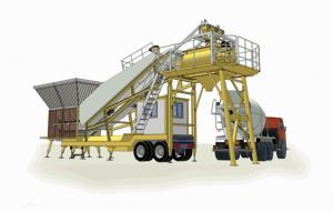 Мобильный бетонный завод на колесах