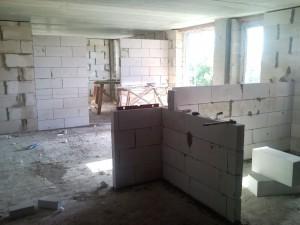 Внутренние перегородки в доме из газобетона