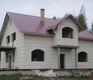 Дом из блока газосиликат