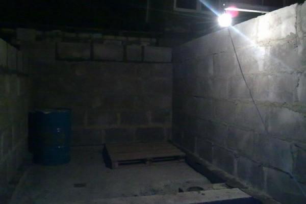 Вид помещения бани изнутри