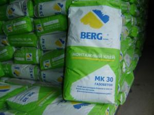 Клей для газосиликатных блоков BERGhome