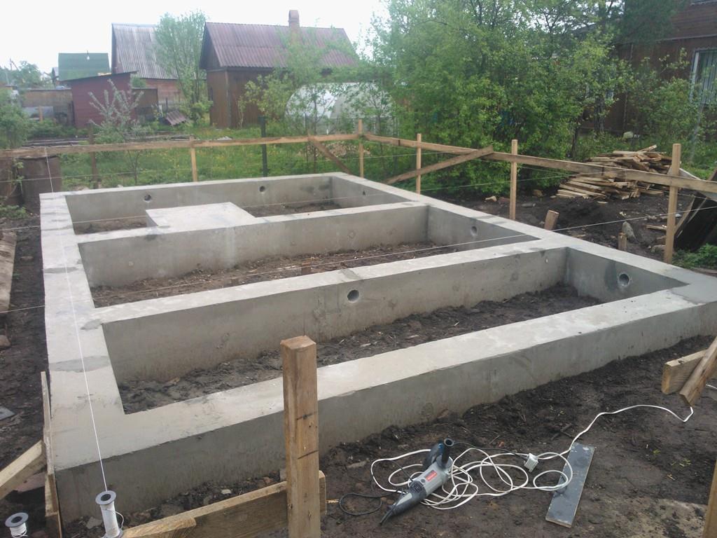 Фундамент бетон ленточный распределение бетона