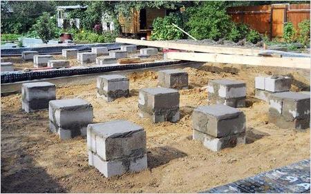 Блоки для столбчатого фундамента