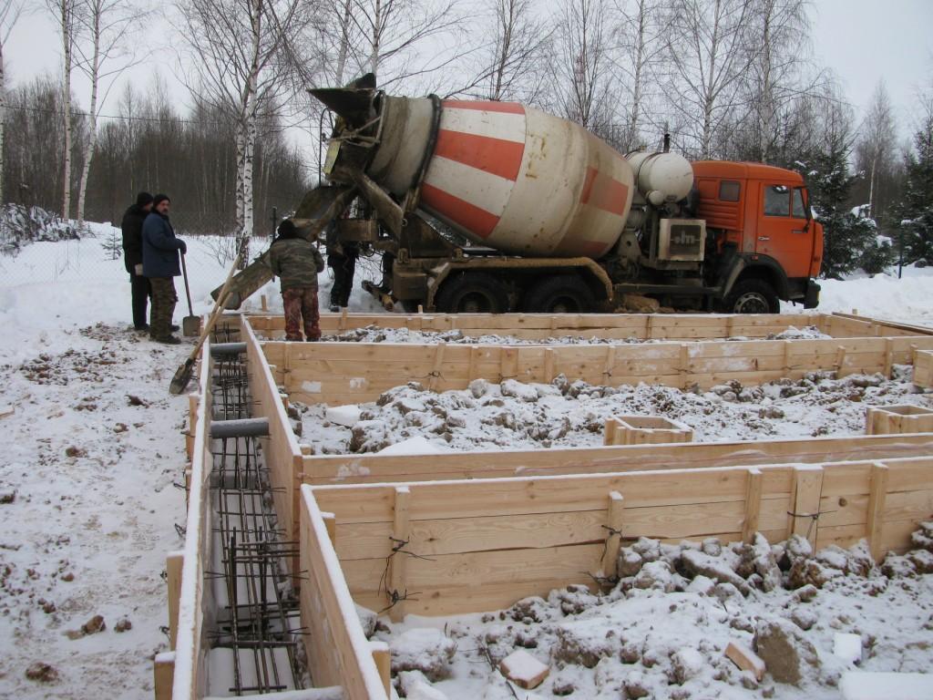 зиму бетон