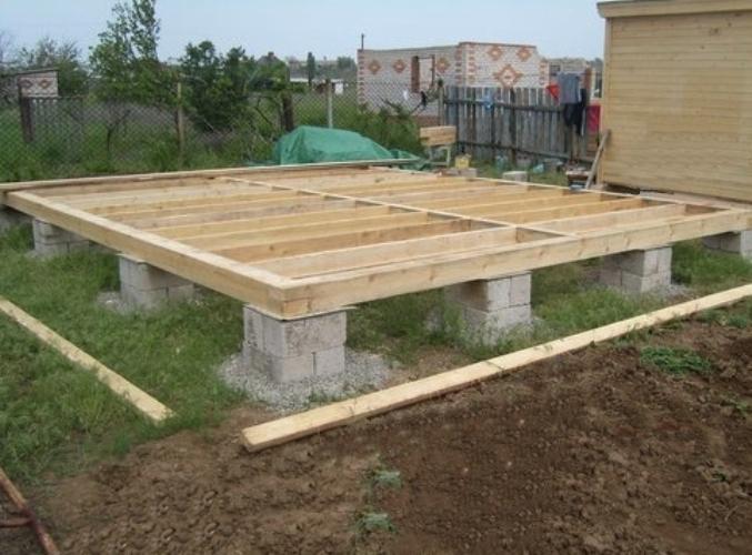 Типы фундаментов для брусовых домов