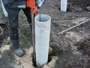Асбестовые стойки для опорно столбчатого фундамента